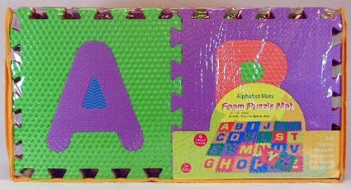 amazoncom alphabet mats foam interlocking puzzle mat toys games