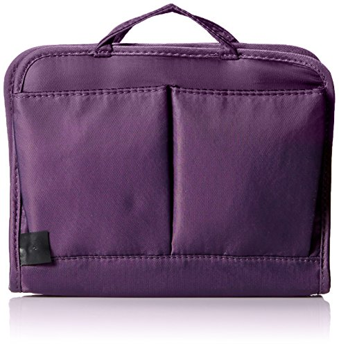 Travelon Women's Safe Id Classic Organizer, Medium Travel Purse, Purple, One Size