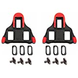 Road Bike Cleats ODIER Bicyce Cycling Cleats Compatible with Shimano SPD-SL (6 Degree Float) (red)