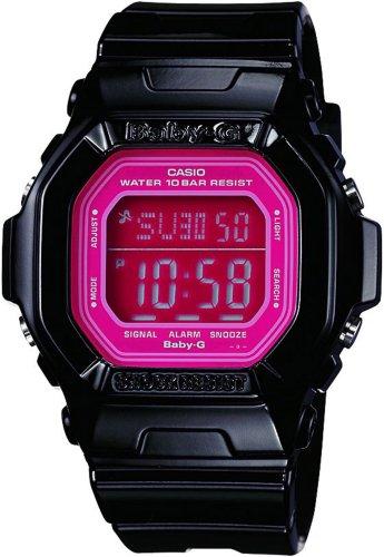 Casio Women's BG5601-1DR Baby-G Square Luminous Color Black Digital Watch