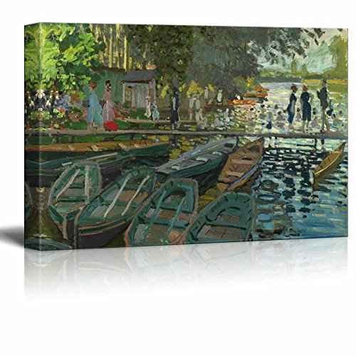 Bathers at La Grenouillere by Claude Monet Print Famous Painting Reproduction