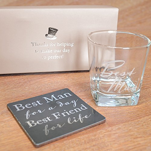 Wedding Gifts Best Man: Amore By Juliana Whisky Glass & Coaster