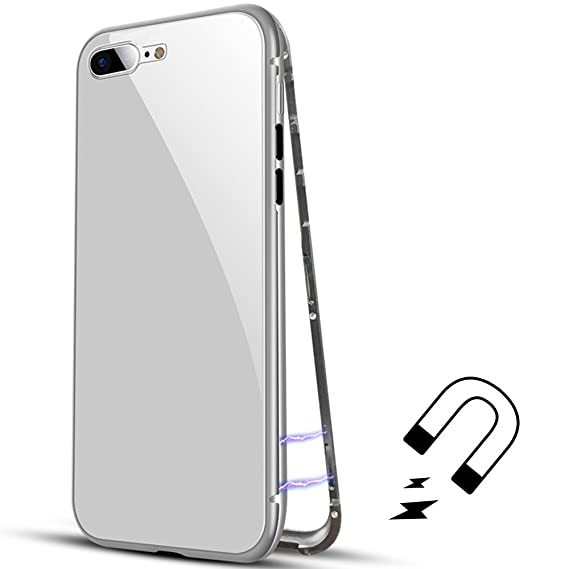 buy popular aed67 f526b Amazon.com: Luxury Magnetic Adsorption Metal Case for iPhone 7 Plus ...