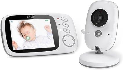 GHB Vigilabebés Inalambrico Bebé Monitor Inteligente con LCD 3.2 ...