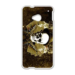 SHEP Gun Skull Custom Protective Hard Phone Cae For HTC One M7