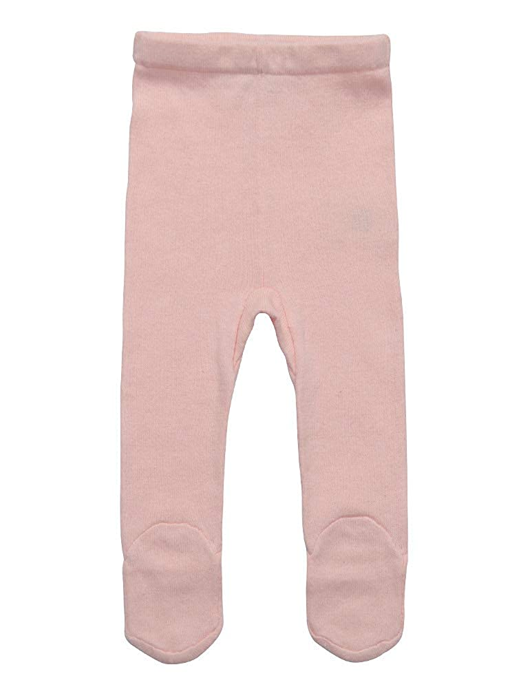 Baby Girl knit Leggings Footed Pants with 100% organic cotton