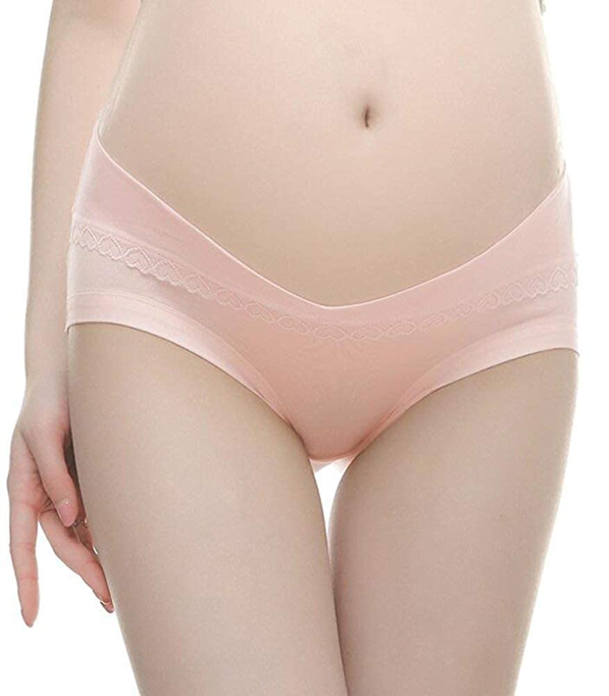 Cotton Maternity Pregnant Mother Panties Lingerie Briefs Underpants Under Bump Panties Multi-Pack Cotton Underwear 4 PCS