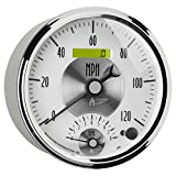 Auto Meter 2095 Prestige Pearl 5' Electric Tachometer/Speedometer Combo (8K RPM/120 MPH, 127mm)