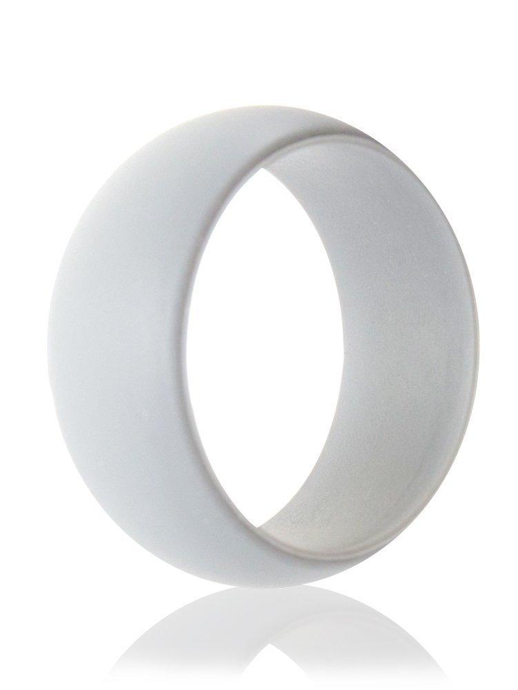 Hombres de silicona anillos de boda por YSD, Ultra cómodo, fuerte y seguro, Diseñado para comodidad, Fitness, ejercicio, entrenamiento, Running, anillo de ...