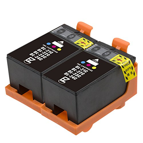 E-Z Ink (TM) Compatible Ink Cartridge Replacement For Dell Series 21 22 23 24 Color (2 Pack) Y499D (XG8R3) Compatible With P513w P713w Photo All-in-One V515w V715w V313 V313w All-in-One Printer