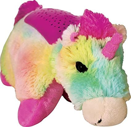 Amazon Com Pillow Pets Dreamlites Rainbow Unicorn Toys Games