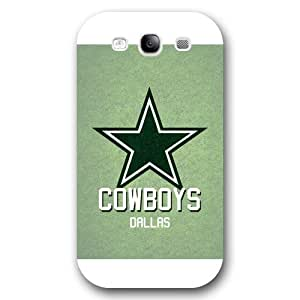 UniqueBox Customized NFL Series Case for Samsung Galaxy S3, NFL Team Dallas Cowboys Logo Samsung Galaxy S3 Case, Only Fit for Samsung Galaxy S3 (White Frosted Shell)