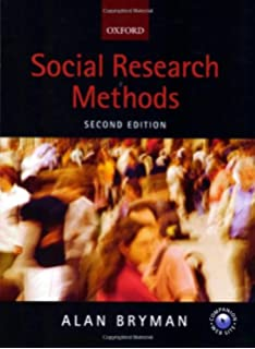bryman a (2012) social research methods. fourth edition. oxford university press oxford
