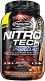 MuscleTech Nitro Tech Power Powder, Superior Whey Protein Peptide Muscle Growth Formula, Triple Chocolate Supreme, 2 lbs (907g)