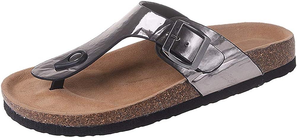 AARDIMI Sandalen Damen Frauen Flip Flops Kreuzband Geflochtene Sandalen Roman Schuhe Sommer Woven Strap Mode Strand Hausschuhe Flacher Anti Rutsch