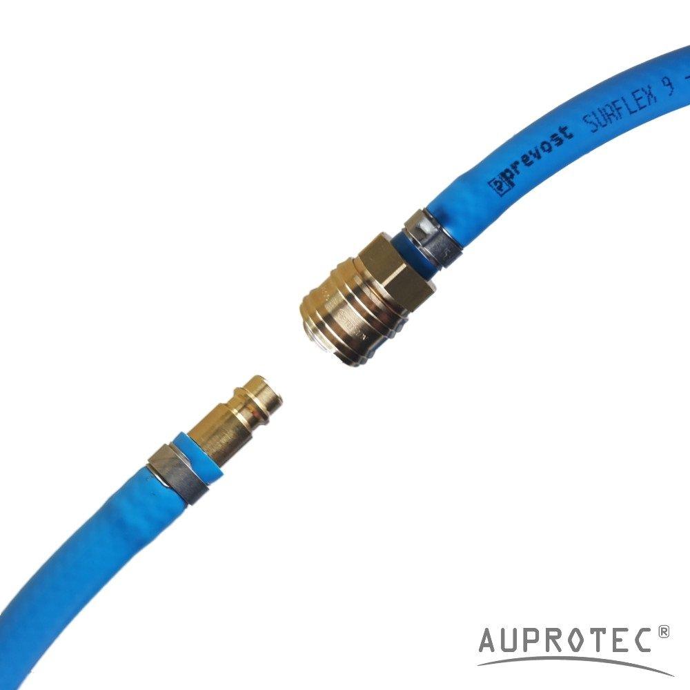 AUPROTEC Sicherheits Druckluftschlauch Set 15m Meter, Innen /Ø 6mm Schnellkupplung Auswahl: