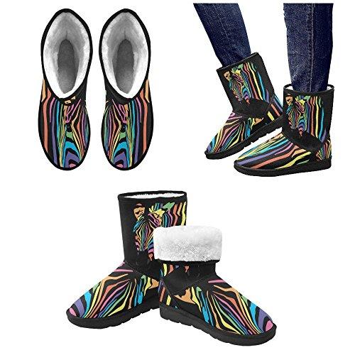 D-story Moda Donna Scarpe Flamingo High Top Donna Snow Boots Color8