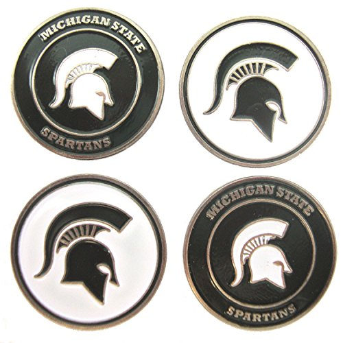 Michigan State Spartans NCAA Double Sided MSU Golf Ball Markers (4 ()