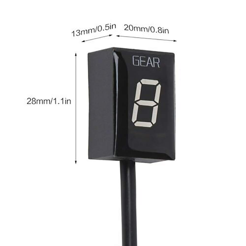 Smoku motor Universal Waterproof Shift Light Speed Display ECU Plug Mount Gear Indicator for Honda
