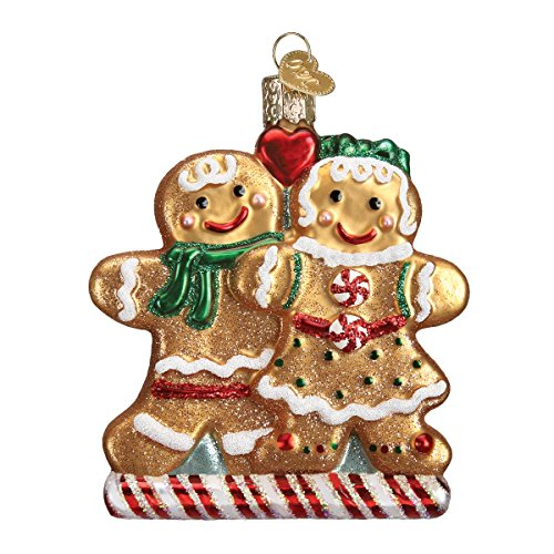 Old World Christmas Gingerbread Friends Glass Blown (Gingerbread Christmas Ornament)