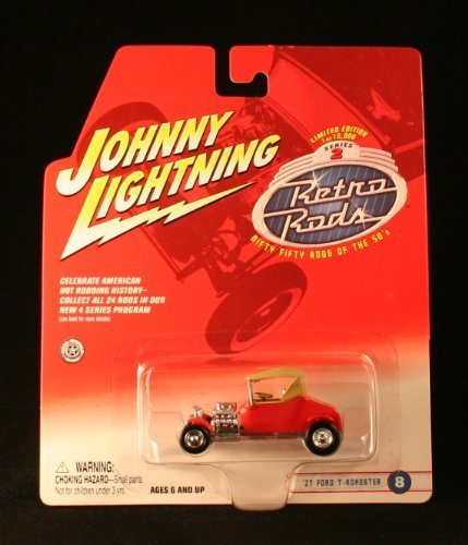 Johnny Lightning '27 Ford T-Roadster #8 RED 2002 Retro RODS Series 2 Limited Edition Die Cast Vehicle 1 of only ()