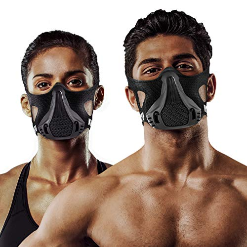 Training Mask | 25 Levels Workout High Altitude Elevation Simulation Sport Oxygen Air Women Men for Gym, Cardio, Fitness, Running, Endurance, Resistance, HIIT
