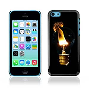 Designer Depo Hard Protection Case for Apple iPhone 5C / Cool Light Bulb Smoke