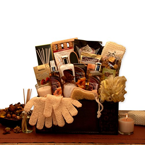 Gift for Her Vanilla & Caramel Spa Gift Basket