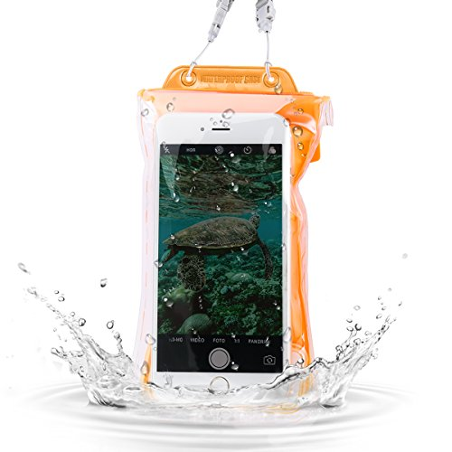 Waterproof Phone Pouch, SAWAKE Universal Waterproof Phone Case with Airbag Floatable Dry Bag for iPhone X/8/8 Plus/7/7 Plus/6/6S Plus, Samsung Galaxy S9/S8/S7/S7 edge/Note 6 5 4 and More Phone