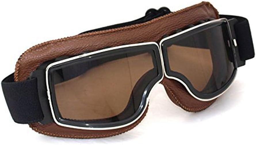 Schwarz Nebelschlussschutz League /& Co Motorradbrille//Fliegerbrille // ATV//Ski//Gleichheitsschutz Vintage-Maske UV-Schutz Staubschutz schmutzabweisend