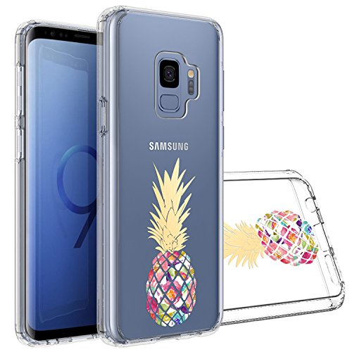 Topnow Samsung Galaxy S9 Case, [Anti-Scratch PC + Shockproof Anti-Drop Soft TPU] Advanced Printing Pattern Phone Cases Glossy Drawing Design Cover for Samsung Galaxy S9(Colorful Pineapple)