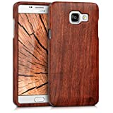 kwmobile Natural wood case for the > Samsung Galaxy A5 (version 2016) < in rosewood dark brown