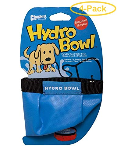 - Chuckit! Hydro-Bowl Travel Water Bowl Medium - Holds 5 Cups - Pack of 4