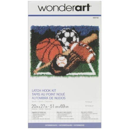 Spinrite Wonderart Latch Hook Kit, 20 by 27-Inch, Sports by Spinrite ()