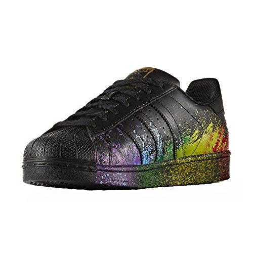 230b0619f461 Adidas Originals Superstar LGBT Pride Rainbow BB1687 Black Gold ...