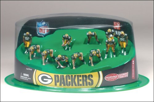 Ultimate Team Set - McFarlane Toys NFL 2 Inch Mini Sports Picks Ultimate 11 Piece Offensive Team Set Green Bay Packers