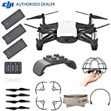 DJI Tello Quadcopter Drone Boost Combo with HD Camera and VR, Comes DJI 3 Batteries, 8 Propellers, Protective Cage, Adapter, 14-Core Processor, Coding Education, Throw and Fly Review