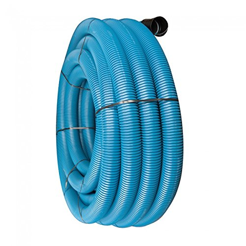63MM X 50M BLUE FLEXIBLE CABLE DUCTING FOR WATER PIPES INCLUDING COUPLING & DRAW CORD JFC
