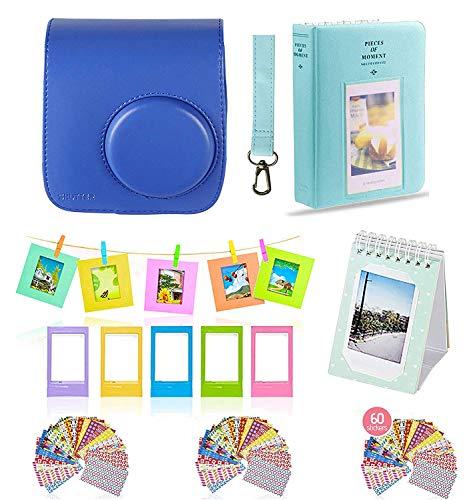 Polaroid Accessories. Polaroid Camera PIC-300 Instant Film Bundle, 9 PC Kit Includes: Polaroid Case + Strap + Photo Album + Standing Album + Wall Hanging Frames + 60 Stickers + 5 Frames, Gift Set