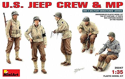 Mini Art Plastics U.S Jeep Crew and MP (Arts Figure Mini)