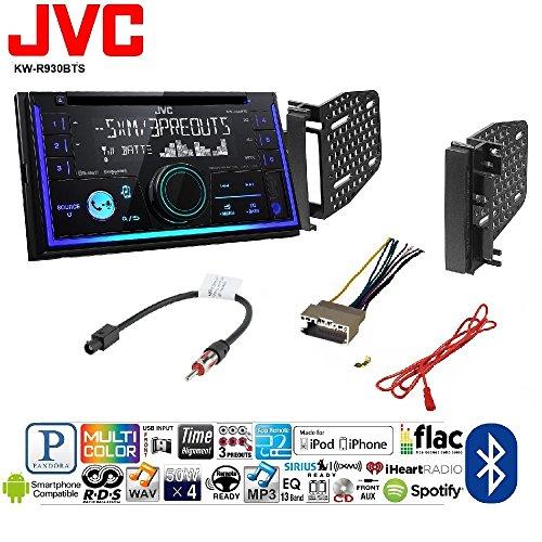 JVC KW-R930BTS Double 2 DIN CD/MP3 Player iHeart Radio SiriusXM Ready Bluetooth Chrysler Dodge Jeep Mitsubishi RAM Volkswagen CAR CD Stereo Receiver Dash Install MOUNTING - Chrysler Dash Installation Radio