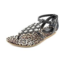Guess Diena Womens Size 7.5 Black Dress Sandals Shoes