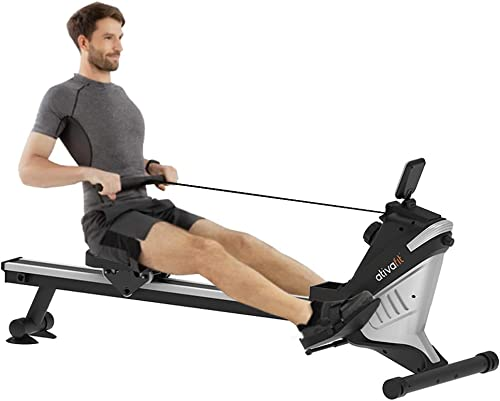 ATIVAFIT Magnetic Rower Rowing Machine 8 Level Adjustable Resistance Exercise