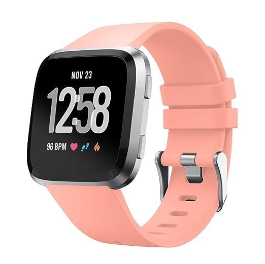 Correa para Fitbit Versa, Malloom Soft Silicona Pulsera de ...