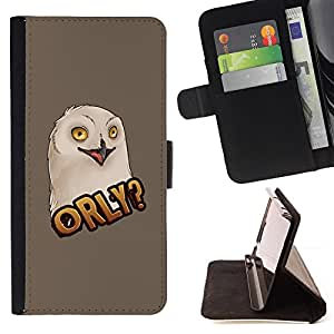 FUNNY BIG EYES OWL ART BIRD PAINTING/ Personalizada del estilo del dise???¡Ào de la PU Caso de encargo del cuero del tir????n del soporte d - Cao - For HTC DESIRE 816