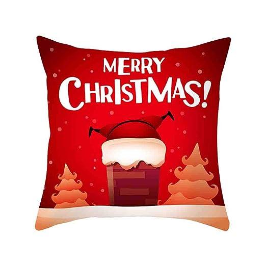 HEVÜY Funda de cojín de Navidad, muñeco de Nieve, para sofá ...