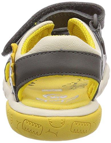 Clarks Rocco Surf, Sandalias Punta Cerrada Para Niños Gris (Grey Combi Lea)