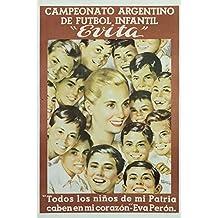 Evita Vintage Poster (artist: Manteola) Argentina (9x12 Art Print, Wall Decor Travel Poster)