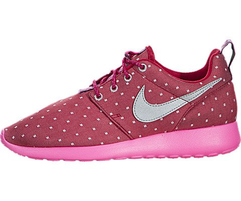 Nike Rosherun Print Dark RedMetallic Silver Pink Power Girls