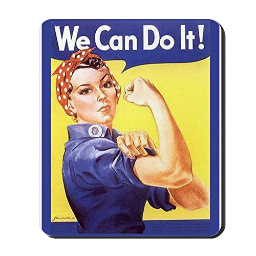 CafePress - Rosie The Riveter - Non-Slip Rubber Mousepad, Gaming Mouse Pad